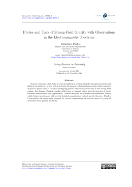 Probes and Tests of Strong-Field Gravity with Observations Dimitrios Psaltis