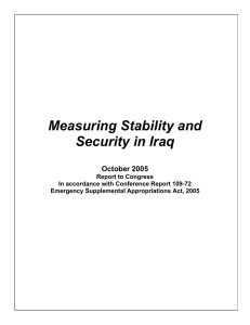 Measuring Stability and Security in Iraq  October 2005