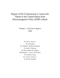 Report of the Commission to Assess the Electromagnetic Pulse (EMP) Attack