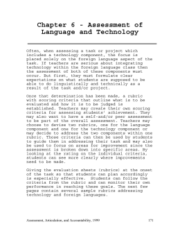 Chapter 6 - Assessment of Language and Technology