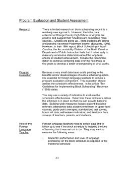 Program Evaluation and Student Assessment
