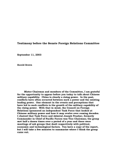 Testimony before the Senate Foreign Relations Committee