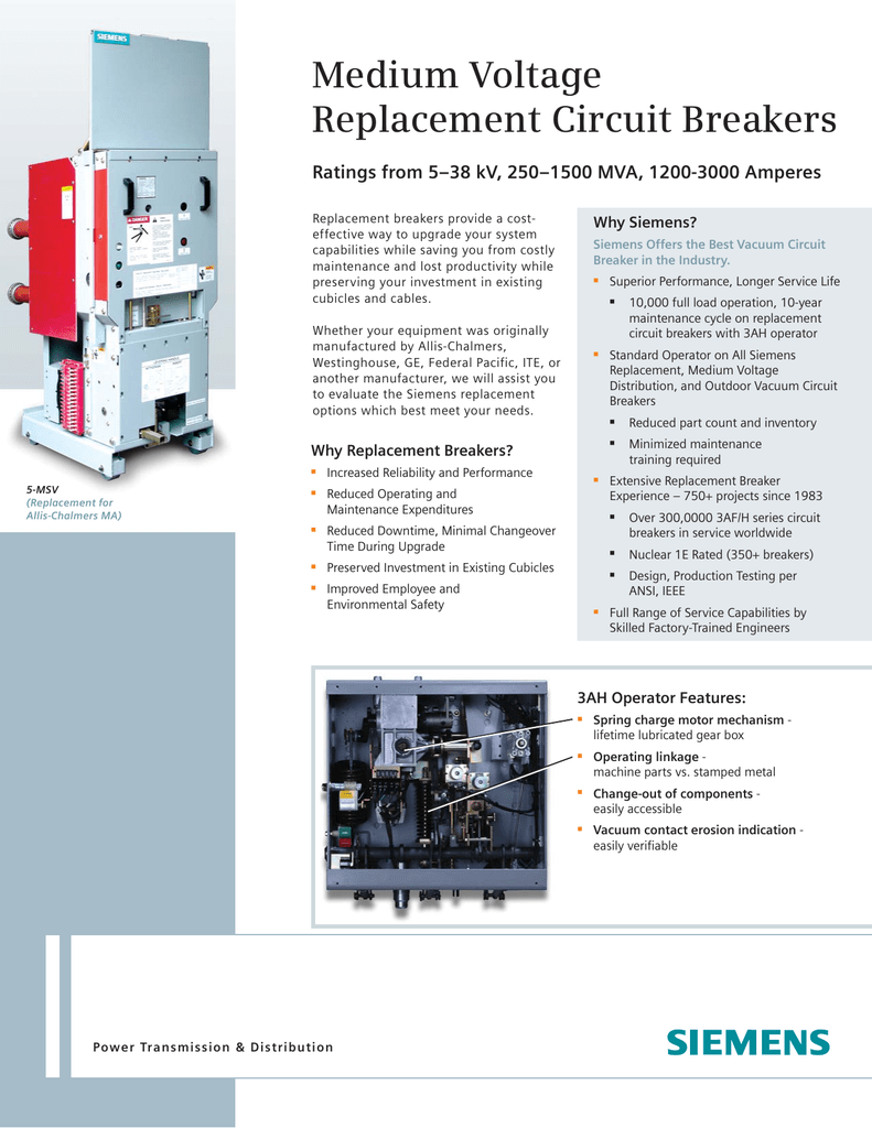 Medium Voltage Replacement Circuit Breakers Why Siemens Wiring Together With Breaker Vacuum Gas