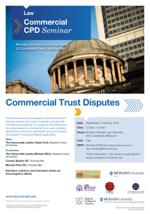 Commercial Trust Disputes  Commercial CPD