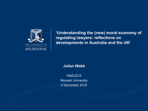 'Understanding the (new) moral economy of regulating lawyers: reflections on