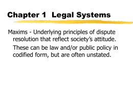Chapter 1  Legal Systems