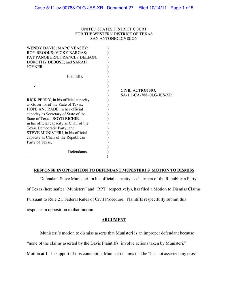 Case 5:11-cv-00788-OLG-JES-XR Document 27 Filed