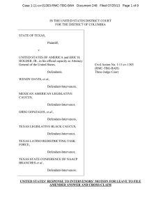 Case 1:11-cv-01303-RMC-TBG-BAH   Document 248   Filed 07/25/13 ...  IN THE UNITED STATES DISTRICT COURT