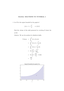 MA1S12: SOLUTIONS TO TUTORIAL 4 x ∈ [0, 2]