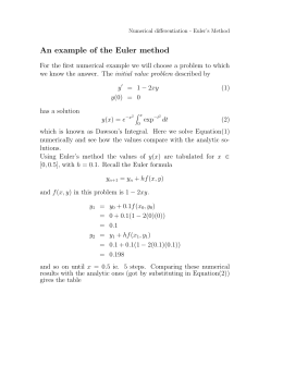 An example of the Euler method