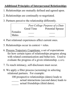 Additional Principles of Interpersonal Relationships 2. Relationships are continually re-negotiated.