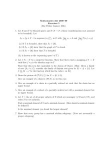 Mathematics 321 2008–09 Exercises 5 [Due Friday January 30th.]