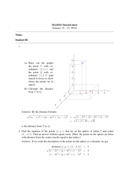 MA1E02 Tutorial sheet [January 18 – 22, 2016] Name: Student ID: