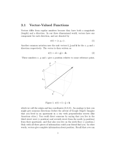 3.1 Vector-Valued Functions