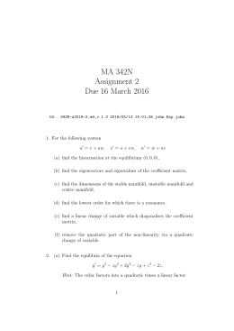 MA 342N Assignment 2 Due 16 March 2016