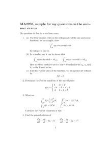 MA22S3, sample for my questions on the sum- mer exams