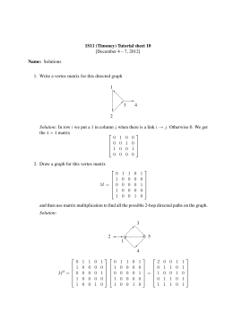 1S11 (Timoney) Tutorial sheet 10 [December 4 – 7, 2012] Name: Solutions