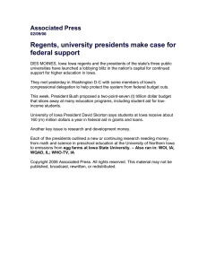 Regents, university presidents make case for federal support  Associated Press