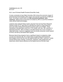 CattleNetwrok.com, KS 05-10-07  KLA: Loss Of Animal Health Products Would Be Costly
