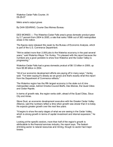 Waterloo Cedar Falls Courier, IA 09-28-07  Metro area's output grows