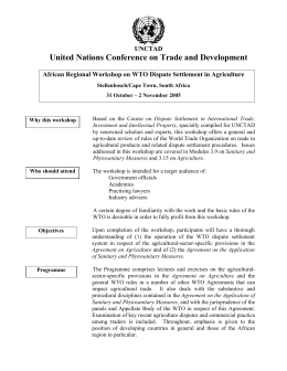 United Nations Conference on Trade and Development UNCTAD
