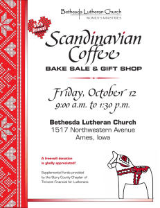  Scandinavian Coffee Friday, October 12