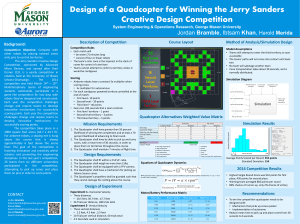 Design of a Quadcopter for Winning the Jerry Sanders Bramble Merida