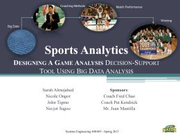 Sports Analytics  D A