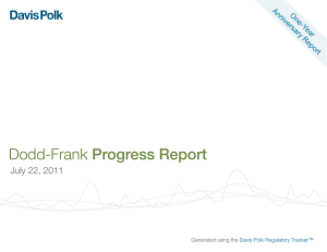 Dodd-Frank Progress Report July 22, 2011