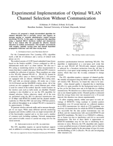 Experimental Implementation of Optimal WLAN Channel Selection Without Communication