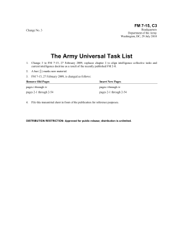 The Army Universal Task List FM 7-15, C3