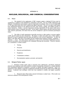 NUCLEAR, BIOLOGICAL, AND CHEMICAL CONSIDERATIONS APPENDIX G