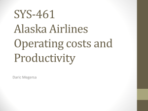 SYS-461 Alaska Airlines Operating costs and Productivity