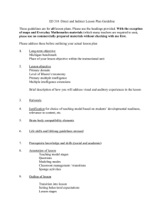 ED 310 Direct and Indirect Lesson Plan Guideline  all
