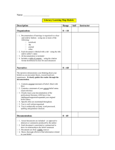 Name: _______________________  Literacy Learning Map Rubric Description