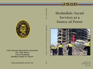 Hezbollah: Social Services as a Source of Power James B. Love