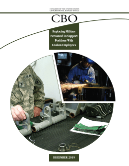 CBO Replacing Military Personnel in Support Positions With