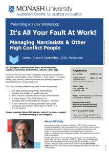 It's All Your Fault At Work! Managing Narcissists & Other