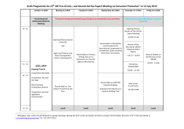 Draft Programme for 13 11-12 July 2013