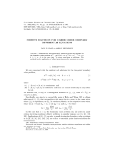 Electronic Journal of Differential Equations