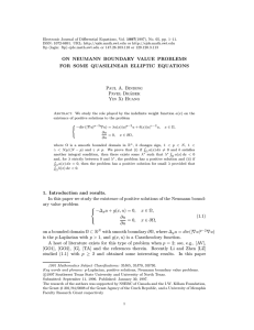 Electronic Journal of Differential Equations, Vol. 1997(1997), No. 05, pp.... ISSN: 1072-6691. URL:  or