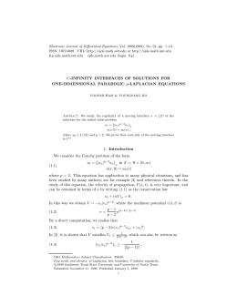 Electronic Journal of Differential Equations, Vol. 1999(1999), No. 01, pp.... ISSN: 1072-6691. URL:  or