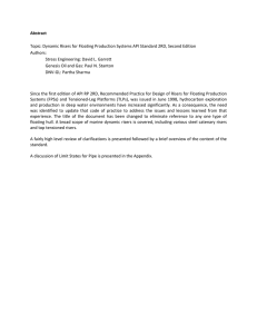 Abstract  Topic: Dynamic Risers for Floating Production Systems API Standard 2RD,... Authors: