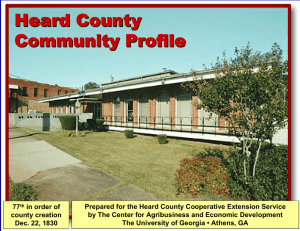 Heard County Community Profile
