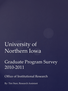 University of Northern Iowa Graduate Program Survey 2010-2011