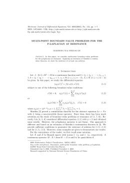 Electronic Journal of Differential Equations, Vol. 2003(2003), No. 112, pp.... ISSN: 1072-6691. URL:  or