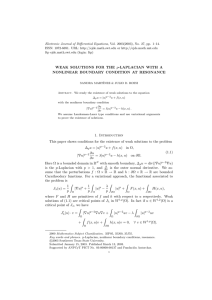 Electronic Journal of Differential Equations, Vol. 2003(2003), No. 27, pp.... ISSN: 1072-6691. URL:  or