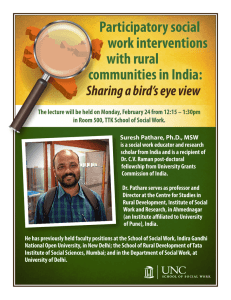 Participatory social work interventions with rural communities in India: