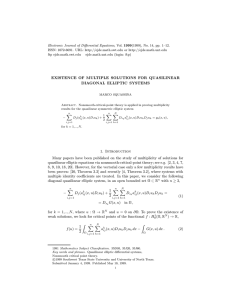 Electronic Journal of Differential Equations, Vol. 1999(1999), No. 14, pp.... ISSN: 1072-6691. URL:  or