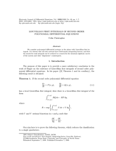1999(1999) No. 49, pp. 1–7. Electronic Journal of Differential Equations, Vol.